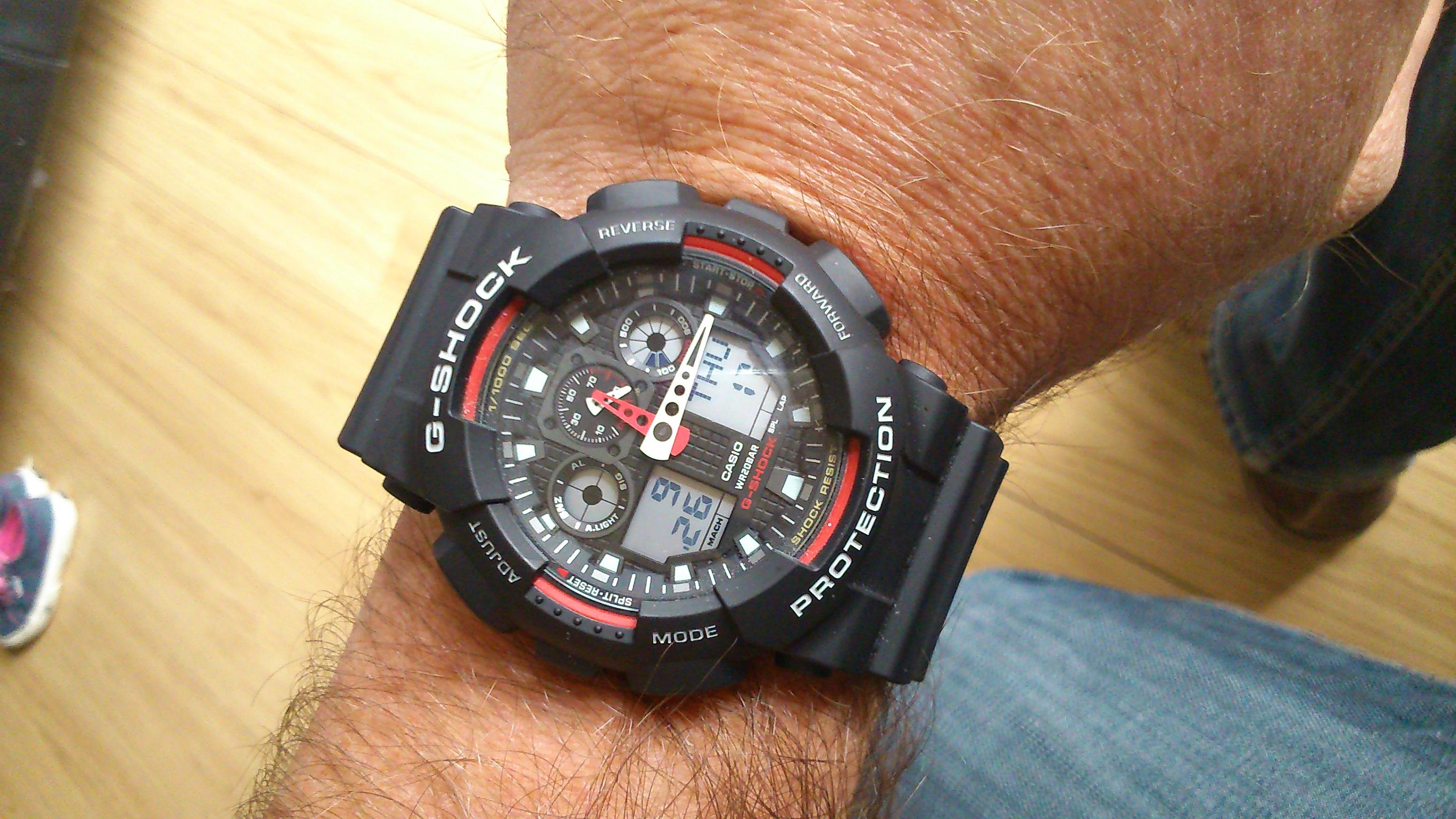 77d9f0316077 Gents Casio G-Shock Alarm Chronograph Watch (GA-100-1A4ER ...
