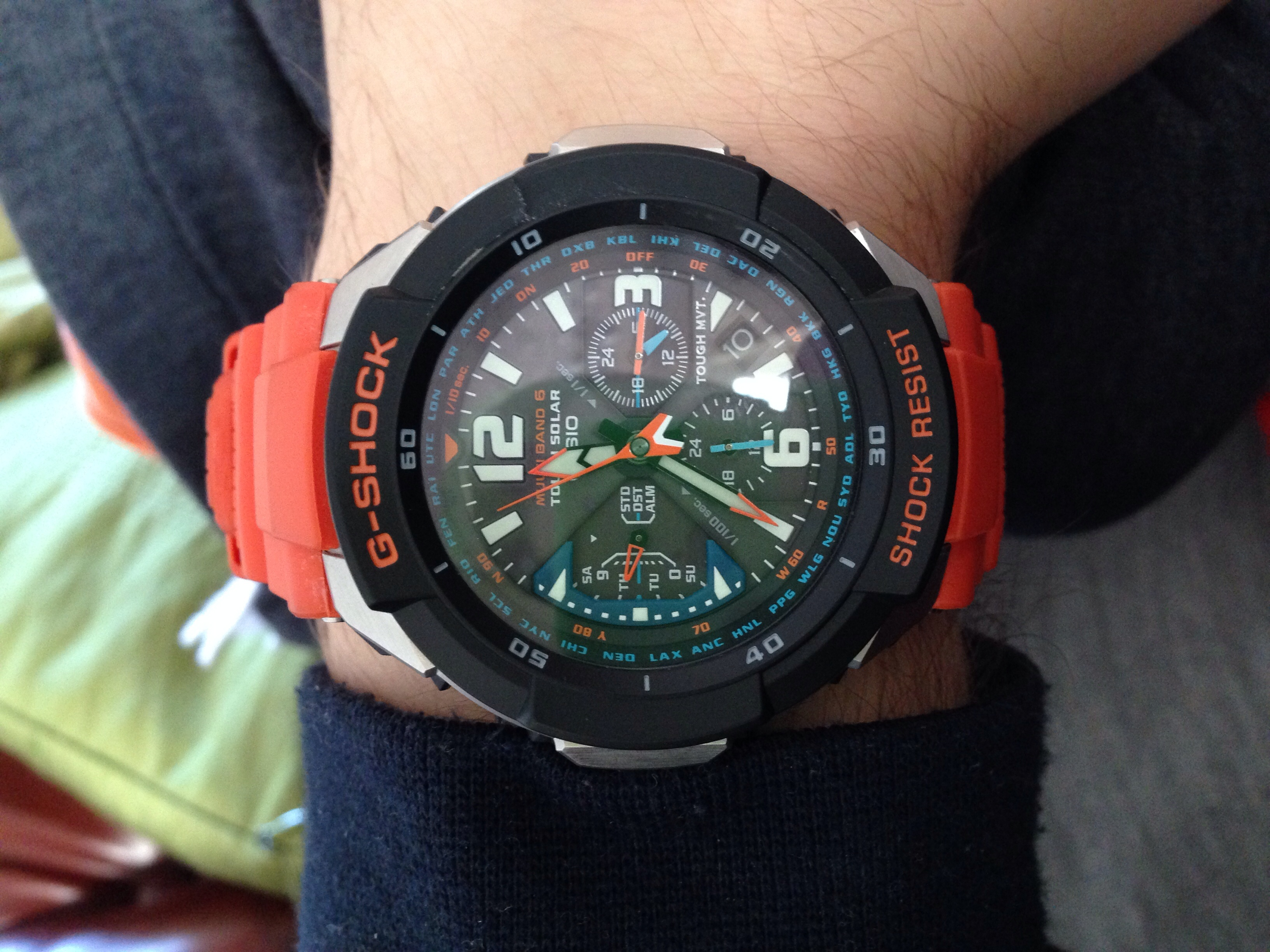 Gents Casio G Shock Gravity Defier Alarm Chronograph Watch Gw 3000m Edifice Efr546bkg1av 4aer