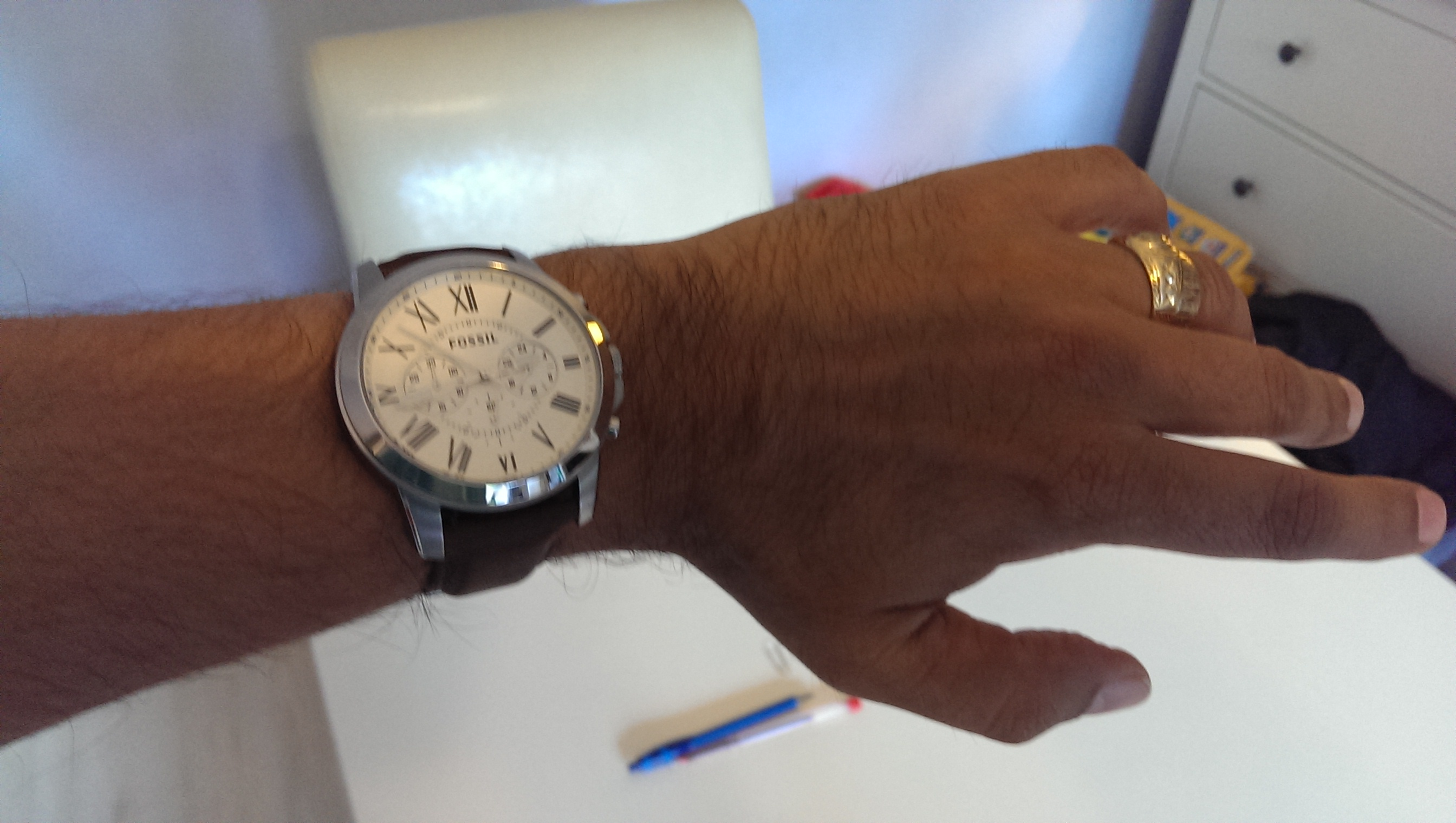 Gents Fossil Grant Chronograph Watch Fs4735 Men