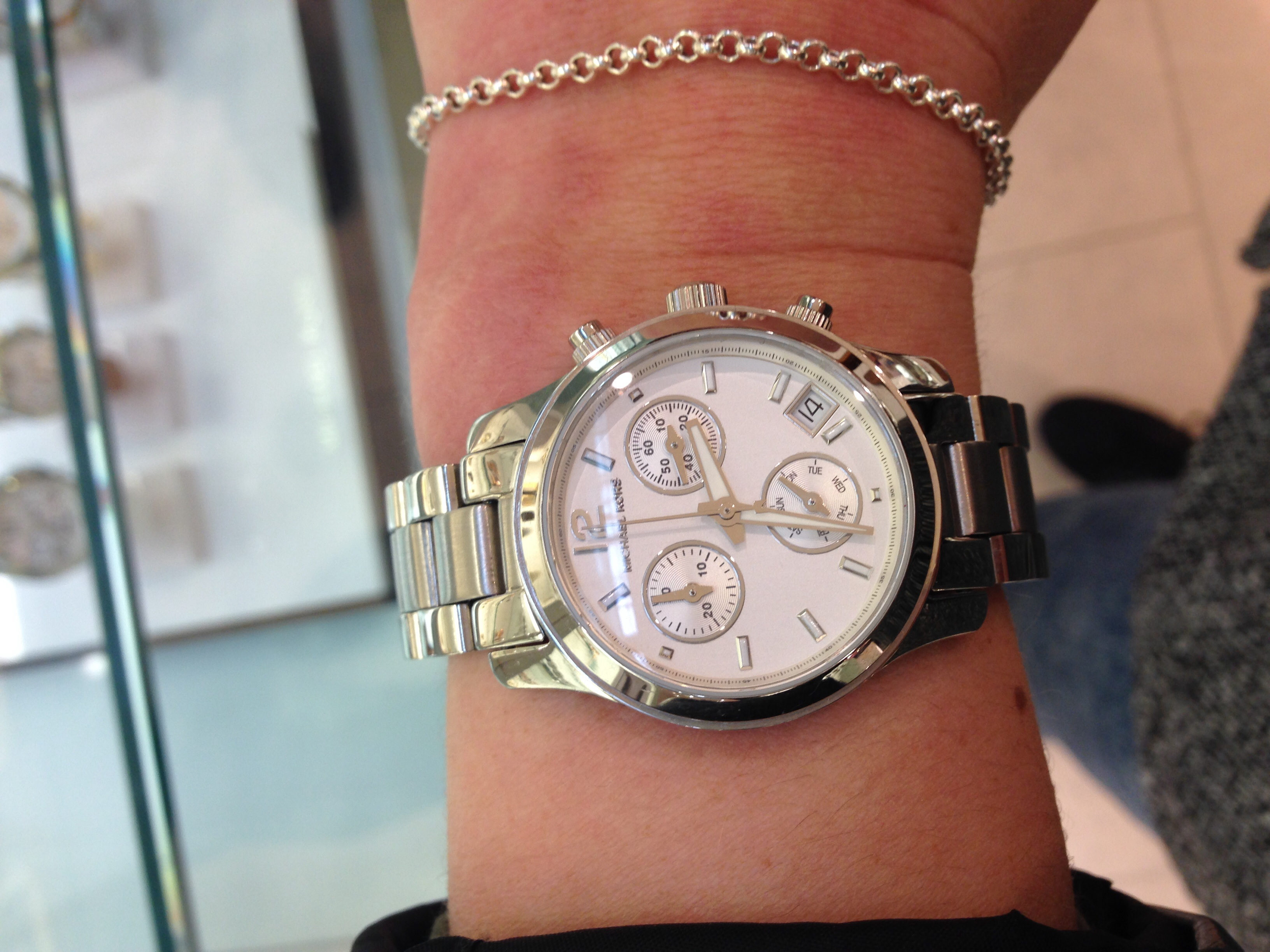 Ladies Michael Kors Runway Chronograph Watch Mk5428 Watchshop