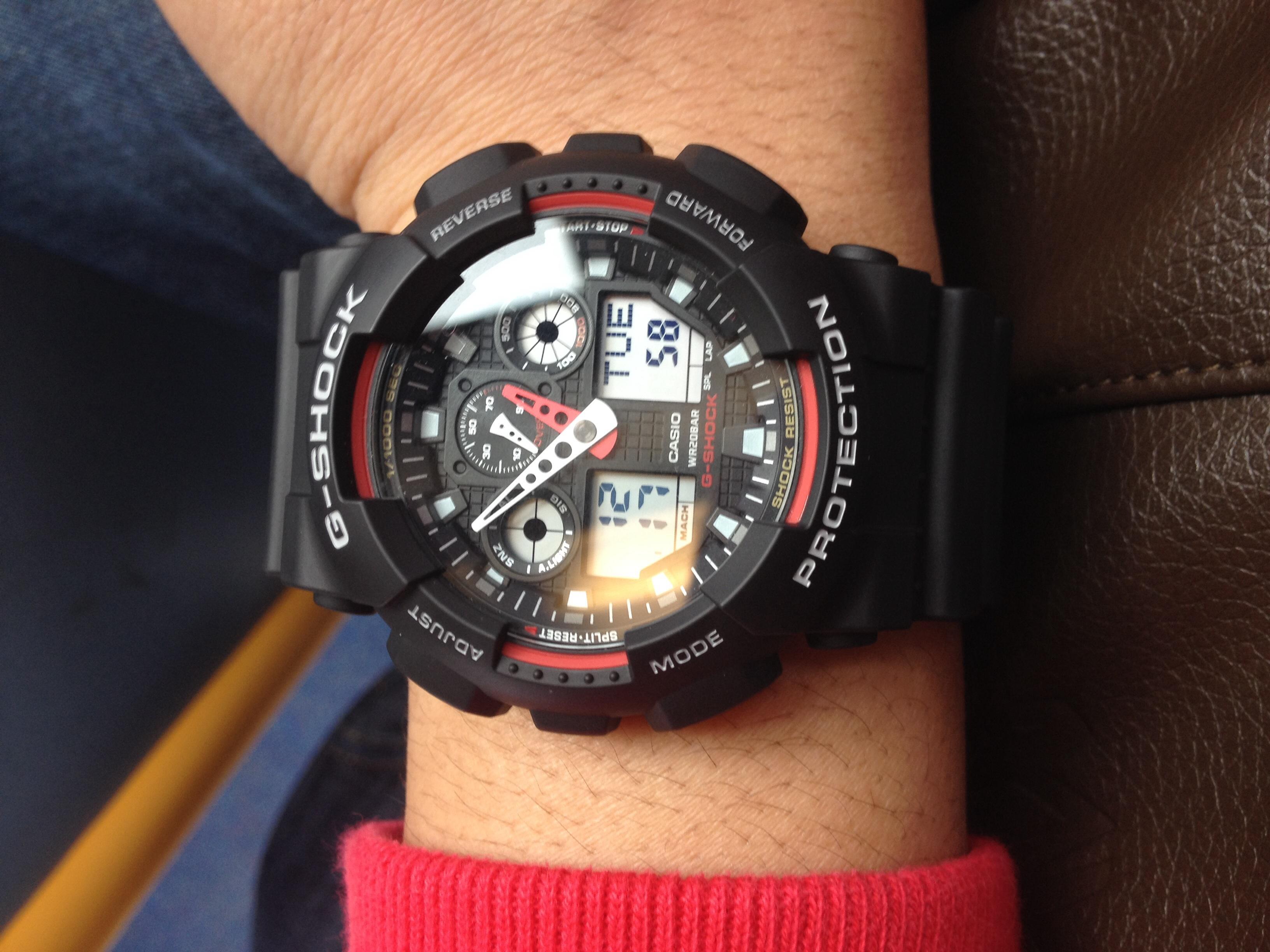 940977bdfd67 Gents Casio G-Shock Alarm Chronograph Watch (GA-100-1A4ER ...