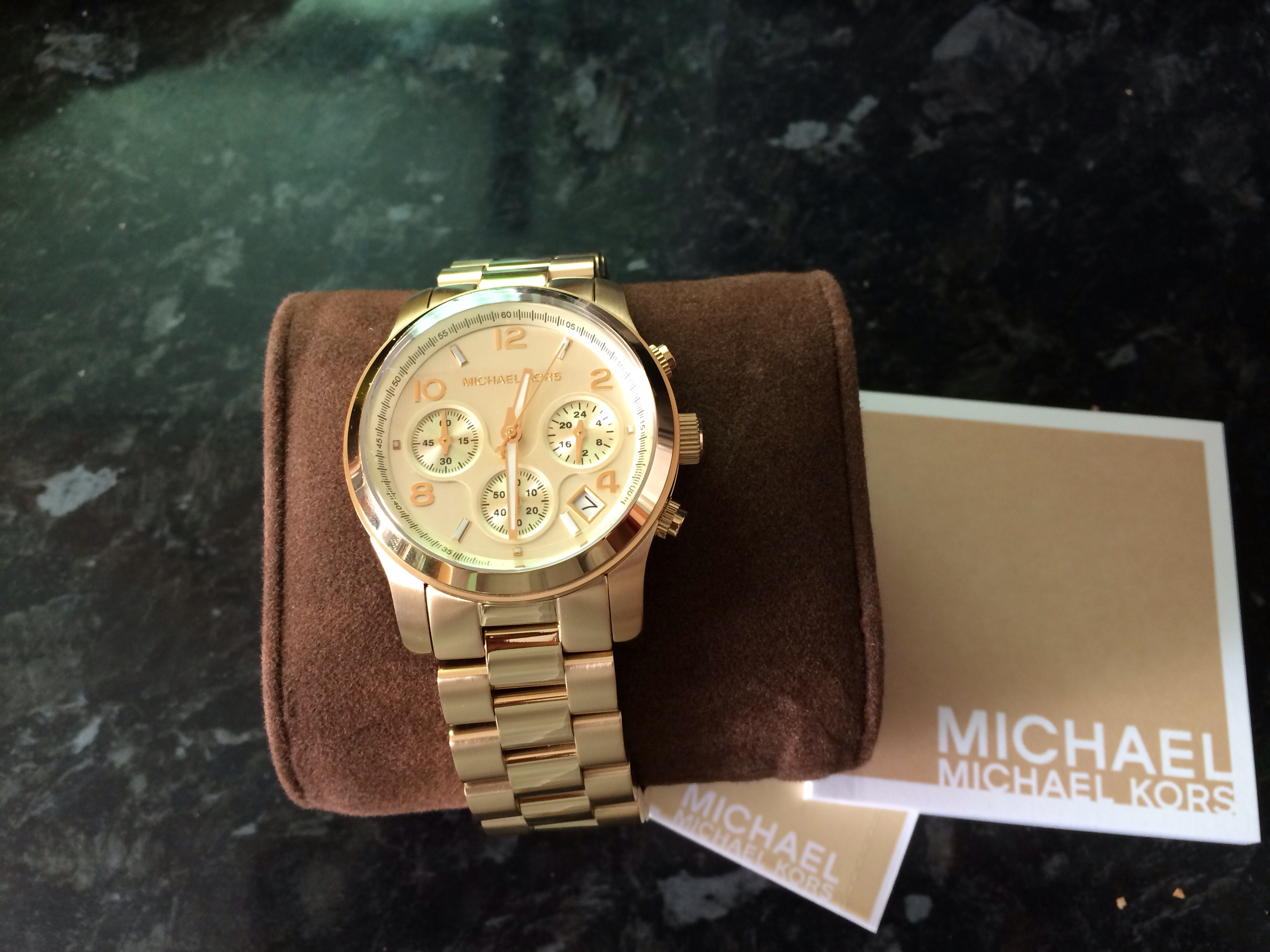 786c0c0eb43f Ladies Michael Kors Runway Chronograph Watch (MK5055)