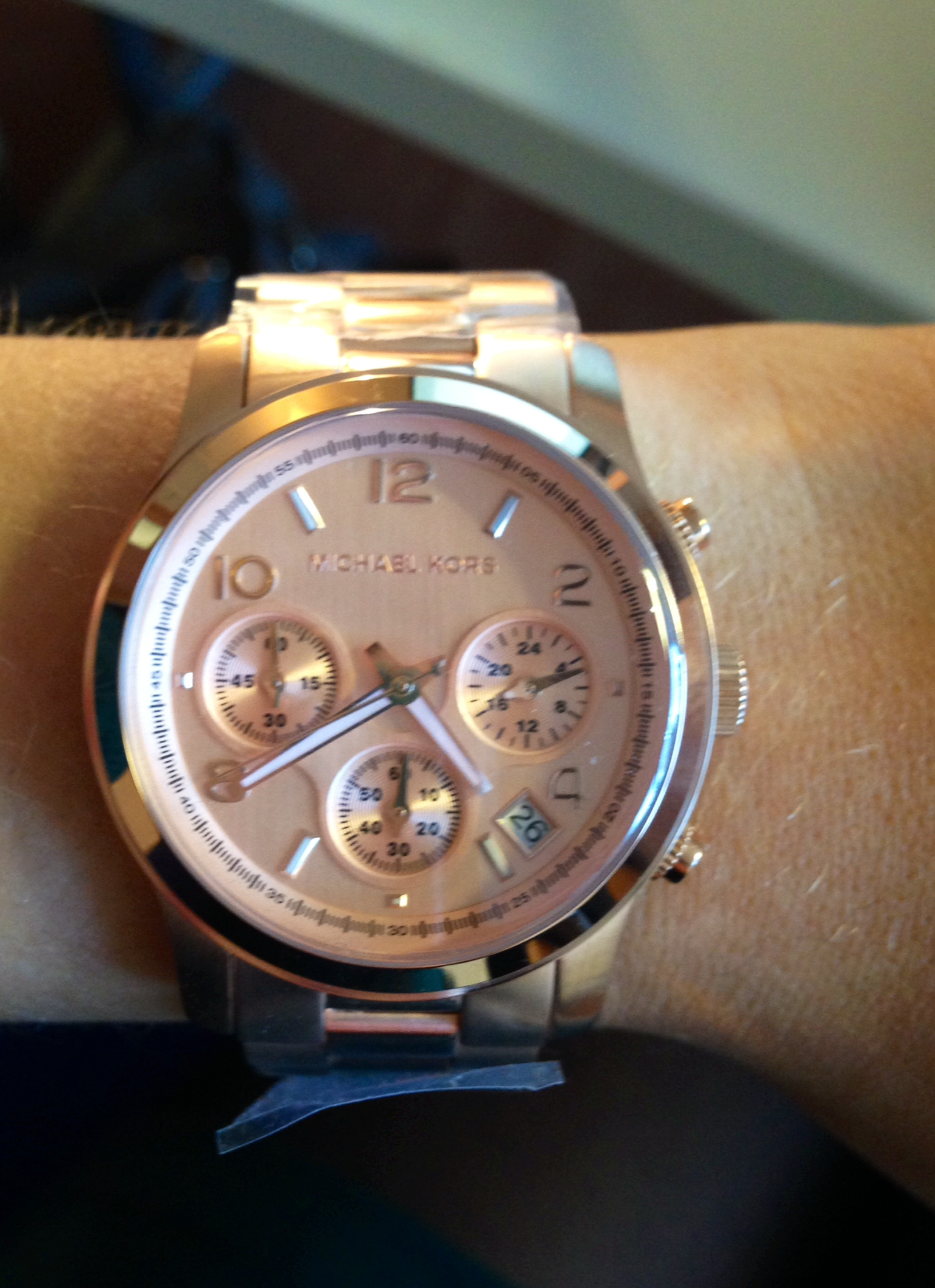 3b3bbdde704c9 Ladies Michael Kors Runway Chronograph Watch (MK5128)