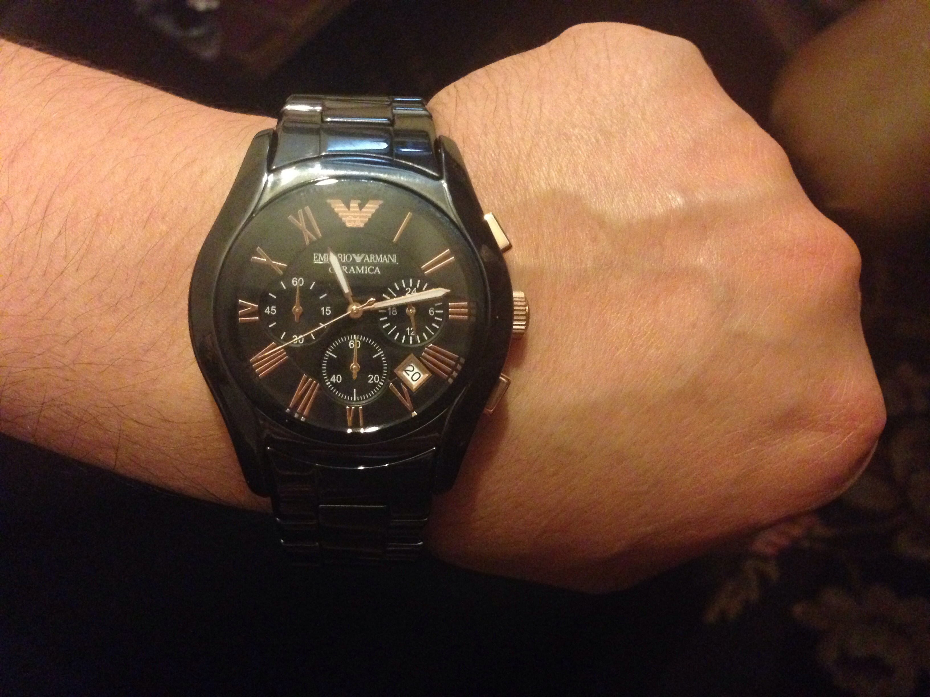 Gents Emporio Armani Chronograph Watch (AR1410)   WatchShop.com™ 2ccfe71bf523