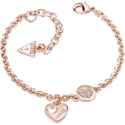 Guess Dames Heart Devotion Bracelet Verguld Rose Goud UBB82059-L