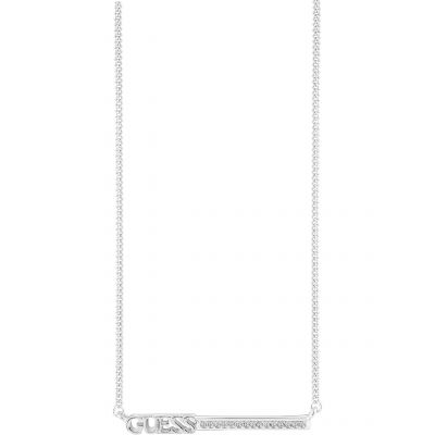 Guess Dam Linear Necklace Silverpläterad UBN82033