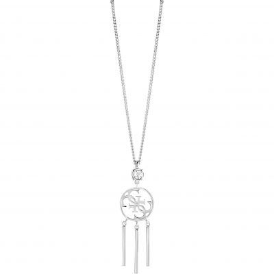 Ladies Guess Silver Plated Miss Divine Necklace UBN82082