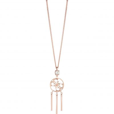 Ladies Guess Rose Gold Plated Miss Divine Necklace UBN82084