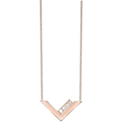 Ladies Guess Rose Gold Plated Triometric Necklace UBN82087