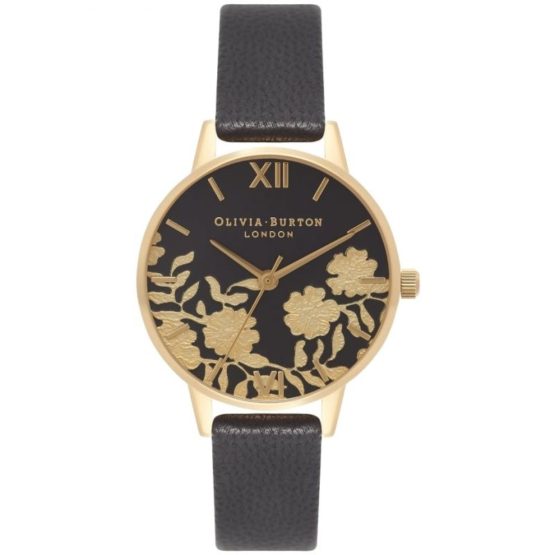 Lace Detail Gold & Black Watch