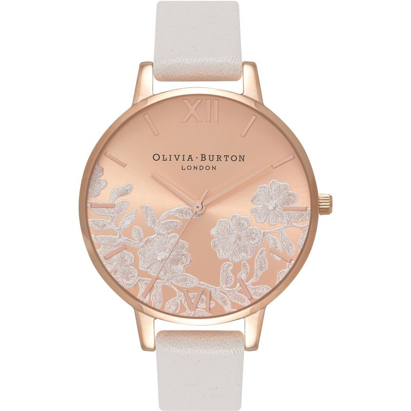 Lace Detail Rose Goldl & Blush Watch