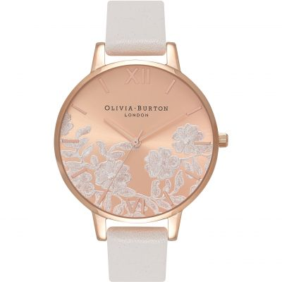 Montre Femme Olivia Burton Lace Detail Gold & Blush OB16MV53