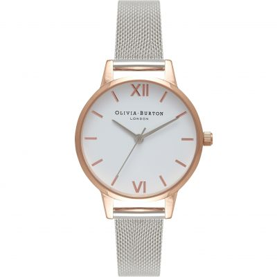 Olivia Burton Go For Greige Go For Greige Rose Gold & Silver Damenuhr in Silber OB16MDW02