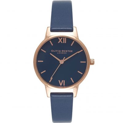 Navy Dial Navy & Rose Gold Watch