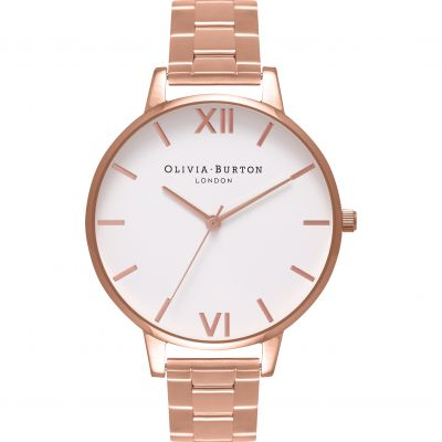 White Dial Rose Gold Bracelet Watch