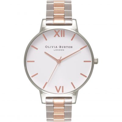 White Dial Silver & Rose Gold Watch