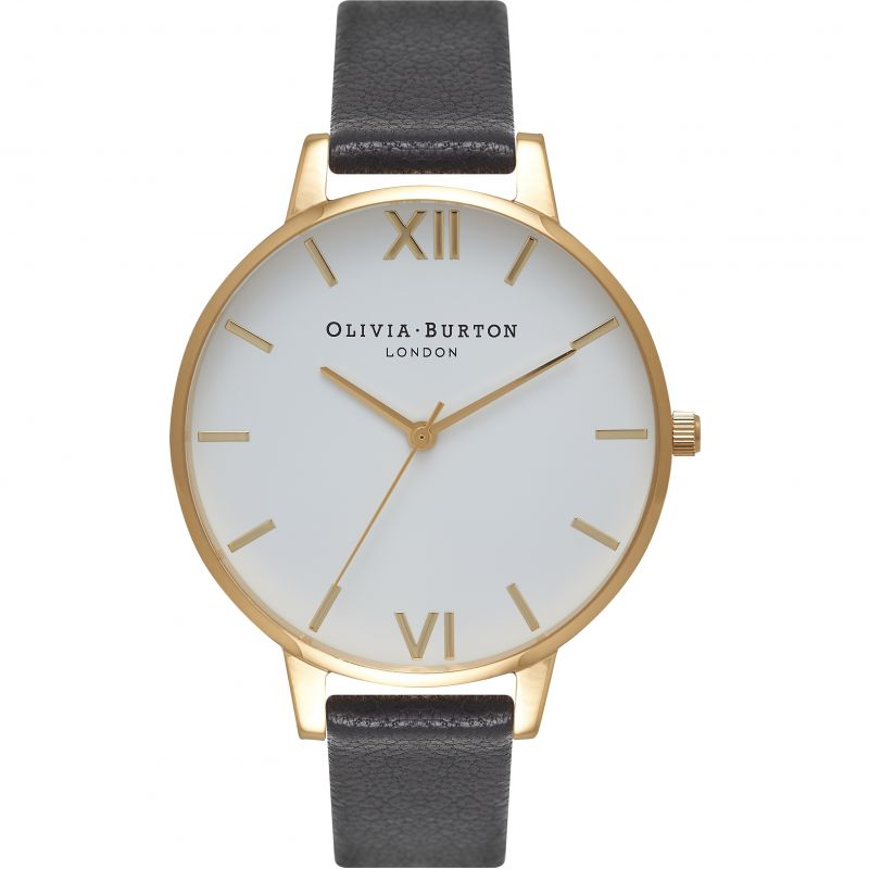 Ladies Olivia Burton Big White Dial Watch OB16BDW17