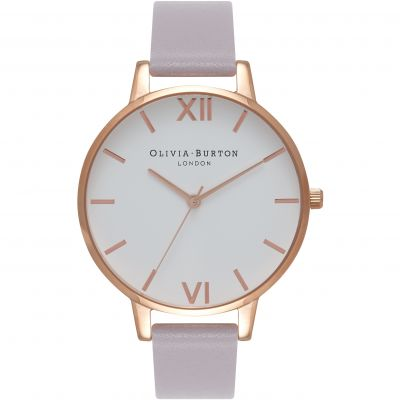 Olivia Burton Big Dial Big Dial Rose Gold & Grey Lilac Damenuhr in Lilac OB16BDW16