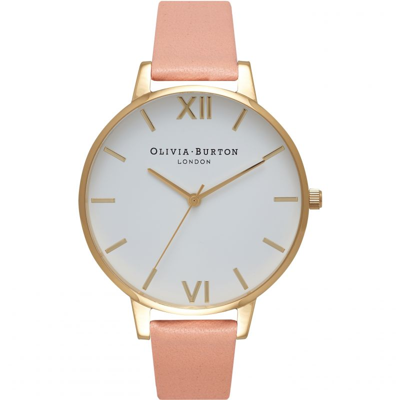 Ladies Olivia Burton Big White Dial Watch OB16BDW13