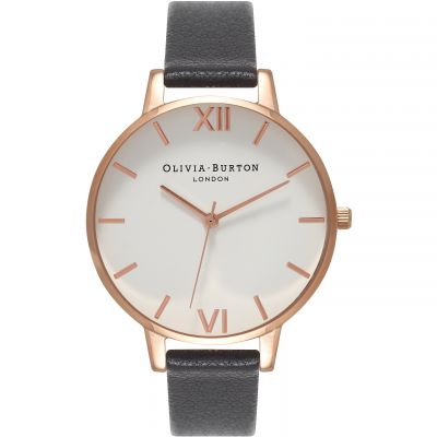 Montre Femme Olivia Burton Big Dial Rose Gold & Black OB16BDW09