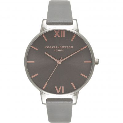 Montre Femme Olivia Burton Black Dial Rose Gold & Dark Grey OB16BD90