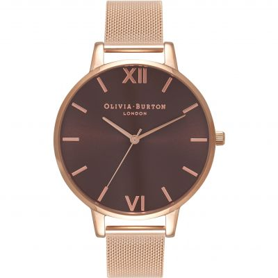 Montre Femme Olivia Burton Big Dial Rose Gold Mesh Watch OB16BD86