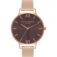 Ladies Olivia Burton Big Dial Mesh Bracelet Watch OB16BD86
