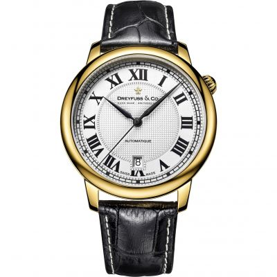 Mens Dreyfuss Co 1925 Automatic Watch DGS00150/01