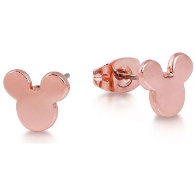 Ladies Disney Couture PVD rose plating Mickey Mouse Head Stud Earrings DRE245