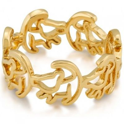 Ladies Disney Couture PVD Gold plated Lion King Simba Outline Ring Size P DLR100-8