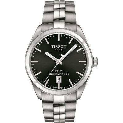 Tissot T-Classic PR100 Powermatic 80 Herrenuhr in Silber T1014071105100