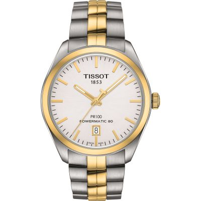 Tissot PR100 Powermatic 80 Herenhorloge Tweetonig T1014072203100
