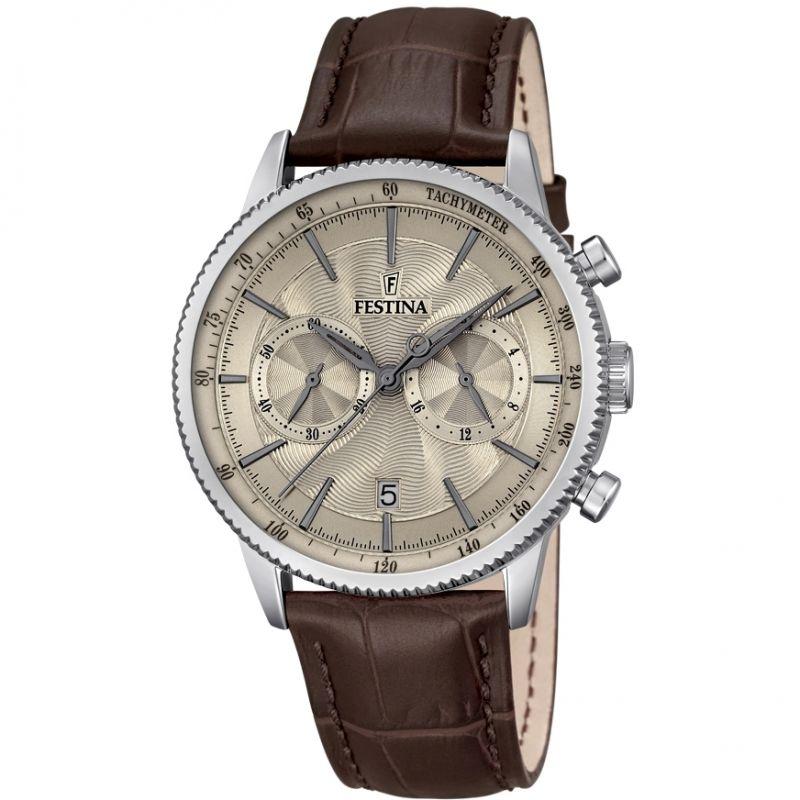 Mens Festina Retro Chronograph Watch