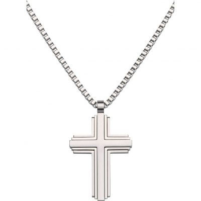 Mens Unique & Co Stainless Steel Cross Necklace AN-58/50CM