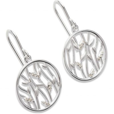 Ladies Unique & Co Sterling Silver Leaf Earrings ME-523