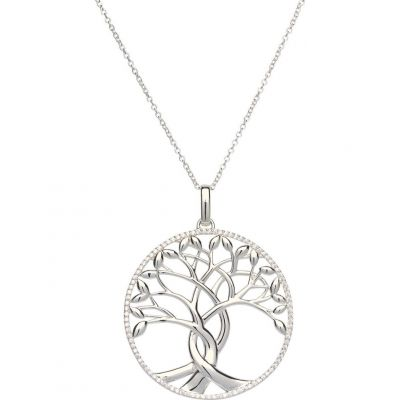 Ladies Unique & Co Sterling Silver Tree Pendant MK-547