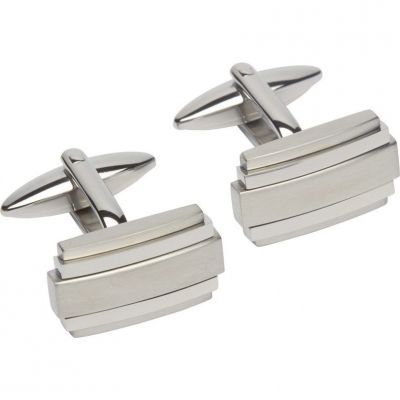 Mens Unique & Co Stainless Steel Cufflinks QC-193