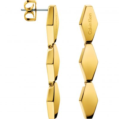 Ladies Calvin Klein PVD Gold plated Snake Earrings KJ5DJE100100