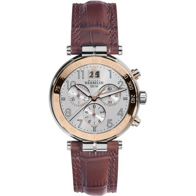 Michel Herbelin Newport Herrenuhr in Braun 36654/TR11MA