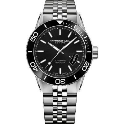 Raymond Weil Freelancer Diver Herrenuhr in Silber 2760-ST1-20001
