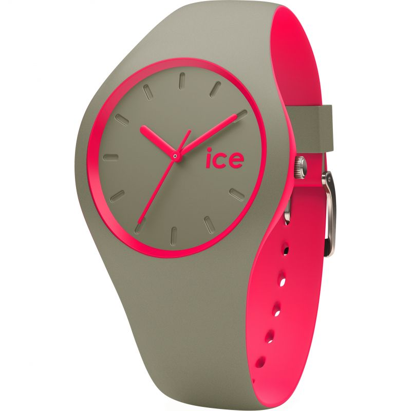 Unisex Ice-Watch Duo Khaki-Pink Watch 001497