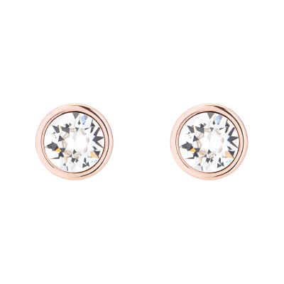 Ladies Karen Millen Rose Gold Plated Logo Stud Earring KMJ189-24-02