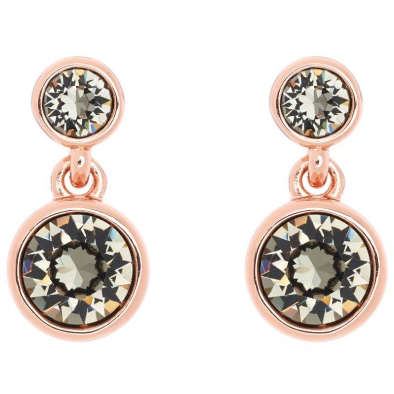Ladies Karen Millen Rose Gold Plated Crystal Dot Earring KMJ879-24-23