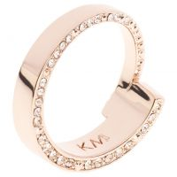 Ladies Karen Millen Rose Gold Plated Contoured Crystal Ring SM KMJ934-24-02SM