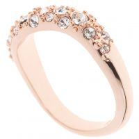 Karen Millen Jewellery Pave Crystal Wave Ring SM JEWEL