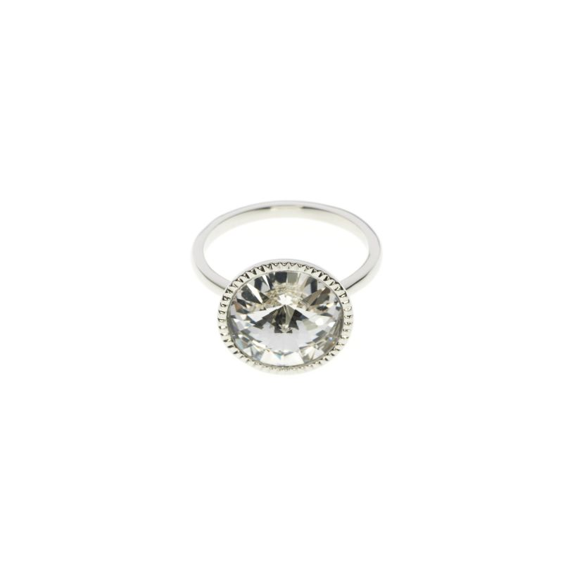 Ladies Ted Baker Silver Plated Rada Rivoli Crystal Ring ML TBJ1159-01-02ML