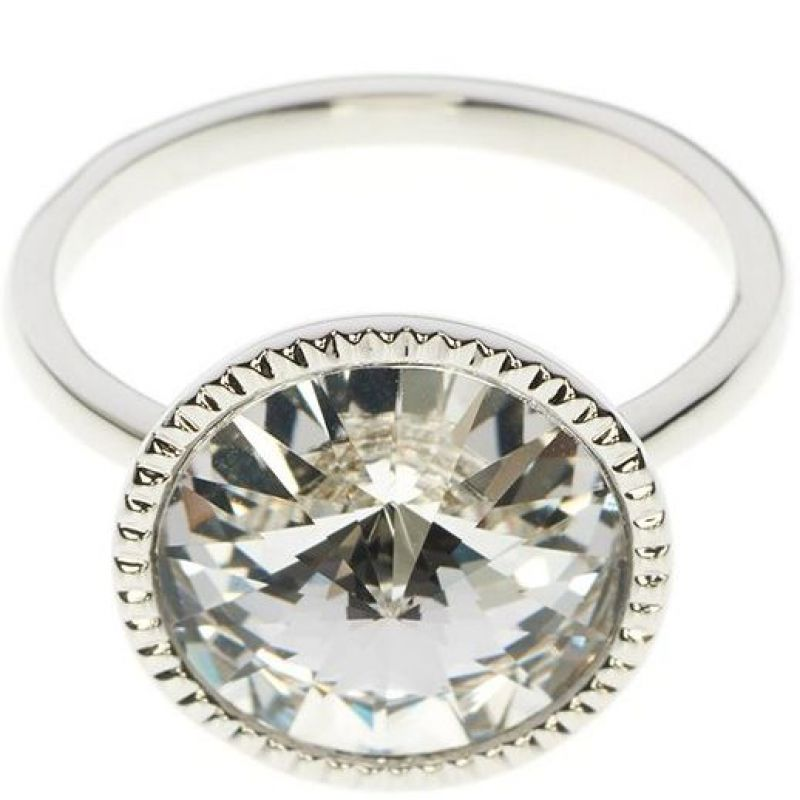 Ladies Ted Baker Silver Plated Rada Rivoli Crystal Ring SM TBJ1159-01-02SM