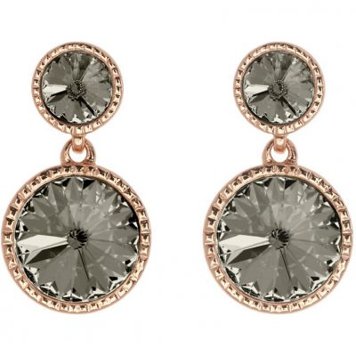 Ladies Ted Baker Rose Gold Plated Ronda Rivoli Crystal Earring TBJ1162-24-23
