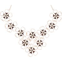 Ladies Ted Baker Gold Plated Linndy Enamel Flower Cluster Necklace TBJ1239-24-23