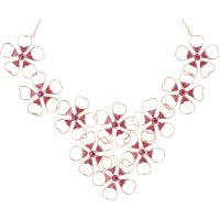 Ladies Ted Baker Rose Gold Plated Linndy Enamel Flower Cluster Necklace TBJ1239-24-73